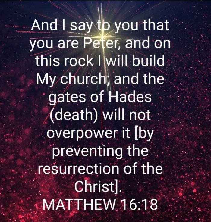 Matthew 16 verse 18