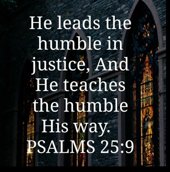 Psalm 25 vs. 9
